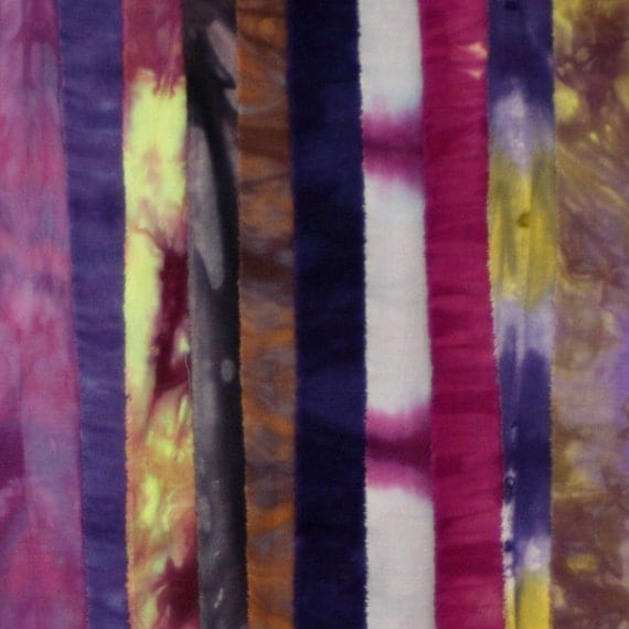Hand Dyed Fabric PURPLE Stash Pack - 10 Fat Eighths