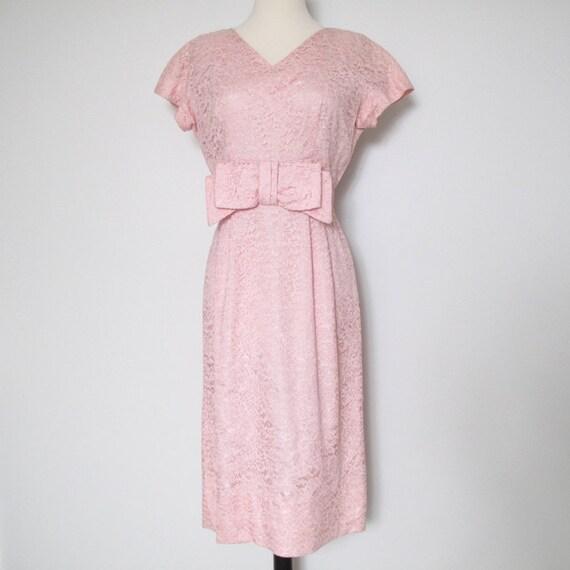 Lily (1950s Pink Lace Dress)