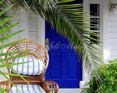 Seaside Cottage - Fronds and Stripes - Giclee Print