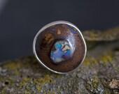 BIG Boulder opal show stopper ring