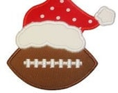 Christmas Football with Hat Applique