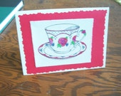Blank tea time card