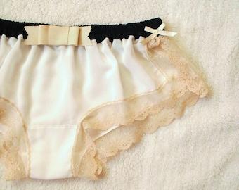 White Chiffon Sleep Boxer/style YURI (made to order)