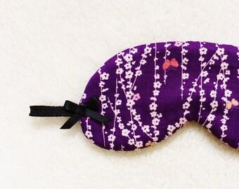 Kimono Printed Silk Eye Mask/style CHOUCHOU