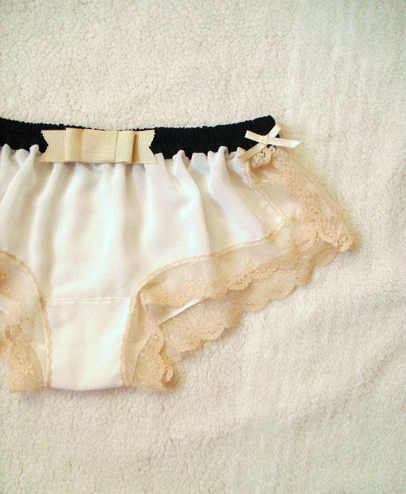 White Chiffon Sleep Boxer/style YURI (S)