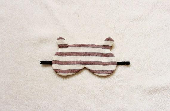 Bear Sleep Eye Mask (striped)