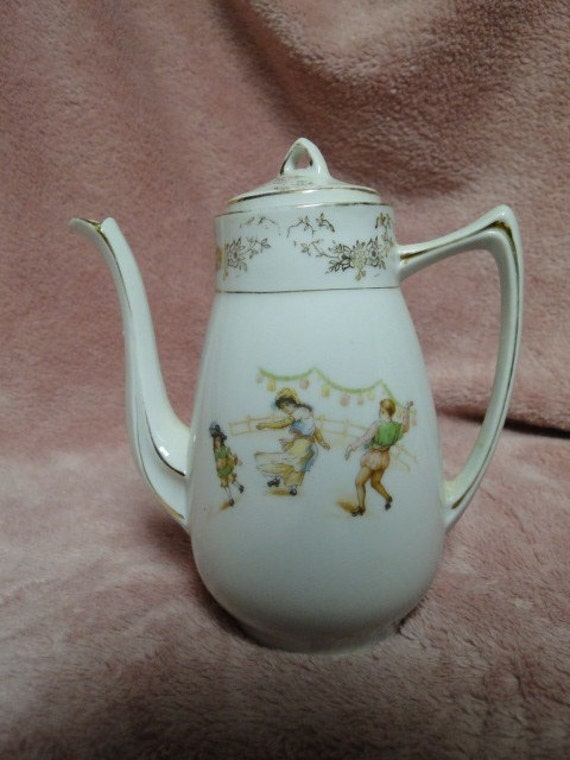 Child's Teapot German 5 inches Height-