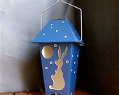 Moon Gazing Hare. Solar Powered Lantern.