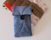 Iphone/cell phone case fabric padded quilted