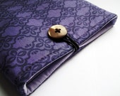 Mystic Purple Kindle Case / Sleeve Or Nook Case / Sleeve Samsung Galaxy Tab etc - With a Button Closure - Padded
