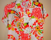 SALE KIMONO Remake shirt silk JAPAN
