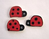 Mosaic tiles ceramic supplies ladybugs art tiles for mosaics, magnets, jewelry