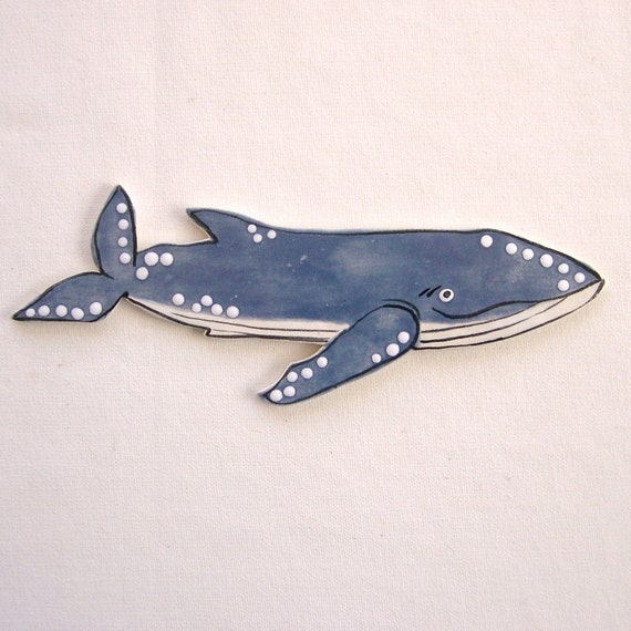 Mosaic tiles ceramic whale tiles for mosaics, magnets, jewelry and more