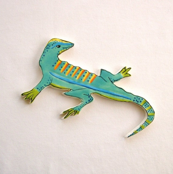 RESERVED Mosaic tiles ceramic lizard  for mosaics and art