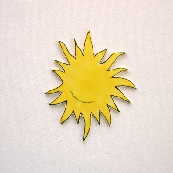 Mosaic tiles ceramic sun art tiles for mosaics, magnets, jewelry