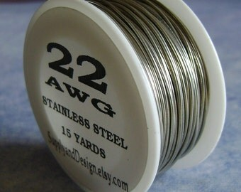 22 Gauge BARE Stainless Steel Wire, 45 Feet