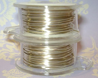 18 Gauge Silver Non Tarnish Permanently Colored Enameled Wire, 24 Feet