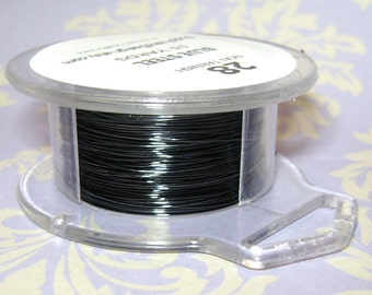 28 Gauge Blue Steel Non Tarnish Permanently Colored Enameled Wire, 45 feet