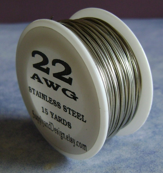 22 gauge bare stainless steel wire 45 feet for 22 gauge craft wire