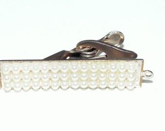 Vintage Small Pearl Tie Clip