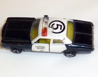 Vintage Zylmex Plymouth Highway Patrol Die Cast Car