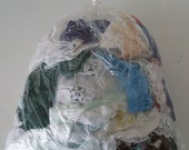 Craft Bags 1/4 of a Pound of Assorted Lace Remnant Pieces