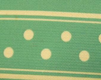 noE777 2 1/2 inch by  2 yds Teal Elastic Poker Dot Trim
