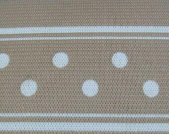 noE777 2 1/2 inch x 2 yds Light Brown Elastic Poker Dot Trim