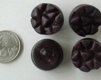 Lot of 4 Unique Vintage Button Plastic Brown bv0006