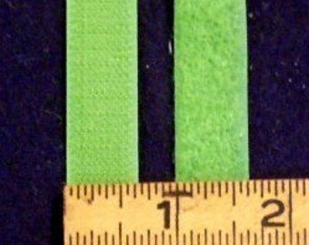 600-  5/8's of an inch (16mm) Grass 100 percent Nylon Hook and Loop Velcro Sew On by the Yard