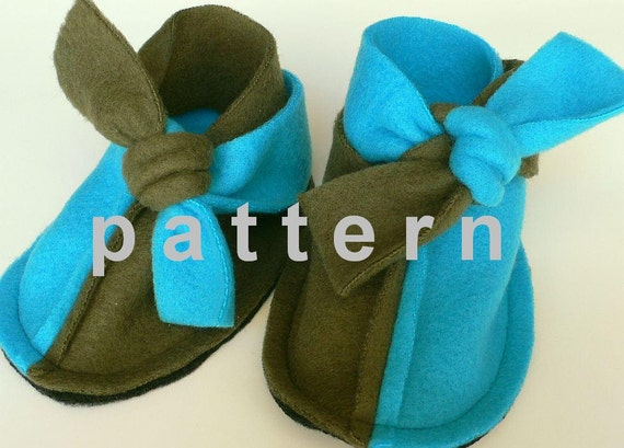 baby booties pattern - super easy sewing tutorial in english and spanish