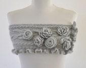 Gray Secret Garden Mohair Capelet Handmade Bridal Accessories