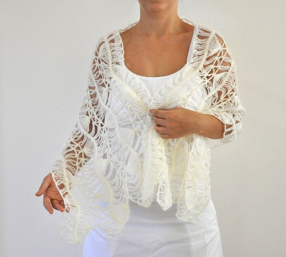 Ivory Mohair Shawl Weddings Shawl Soft Lace Bridal Accessories