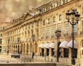 Paris Photos Note Card, Paris La Place Vendome, Paris Architecture, Paris Photography Note Card, Paris Gold and Black Street Lamps Note Card