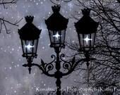 CUSTOM LISTING - NANCY  Starry Night Lamps Lanterns, Paris Street Lamps Art, Sparkling Paris Lanterns, Paris Fairy Lights Night Lanterns