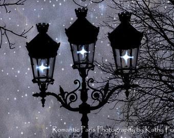 Paris Photography, Paris Street Lamps Lanterns Lights, Paris Street Lamps Print, Sparkling Paris Lanterns, Paris Fairy Lights Night Lanterns