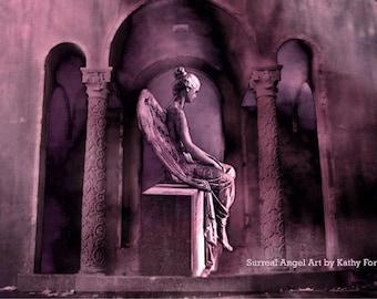 Gothic Angel Photography, Sad Angel Photograph, Angel In Mourning, Sad Angel Lost Love Sorrow, Cemetery Angel Print, Mourning Angel Prints