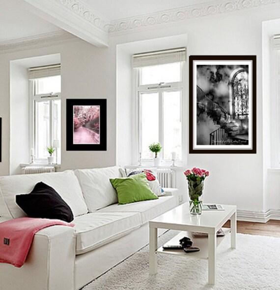 photographie gothique noir et blanc escalier par kathyfornal. Black Bedroom Furniture Sets. Home Design Ideas