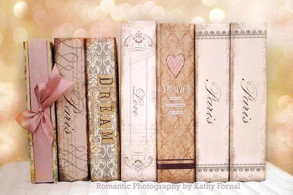 Paris Books Photography, Paris Wall Art, Paris Home Decor, Paris Books Print, Shabby Chic Decor, Baby Girl Nursery Decor, Paris Books Decor