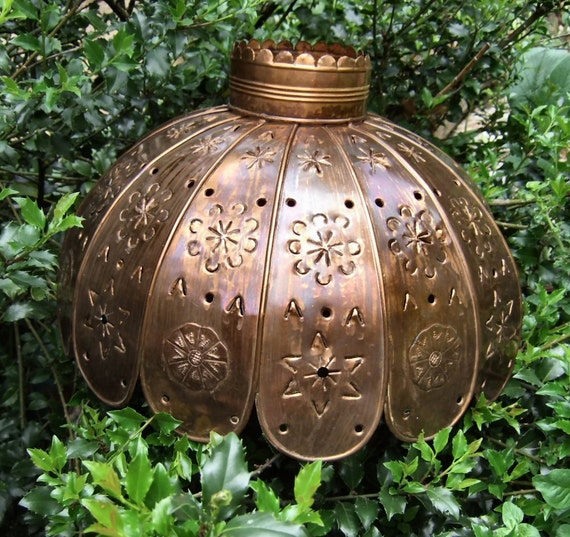 Handmade Mexican Punched Tin Lamp Light Shade
