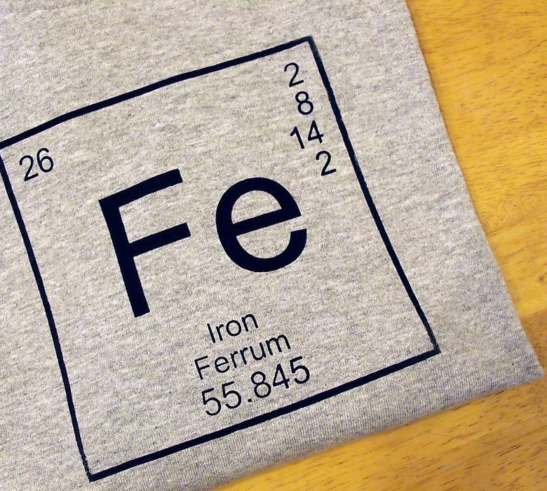 T shirt men 39 s cotton science tee iron fe periodic - Iron on the periodic table ...