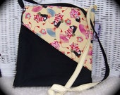 ETSY Holiday Sale - 20 percent off Katie Ann Messenger Bag in Black