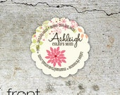 Garden Whimsy - custom contact / calling cards for moms, blogs and businesses.