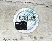 Say Chic Photographer Cards - custom contact / business cards for photographers, social networking cards