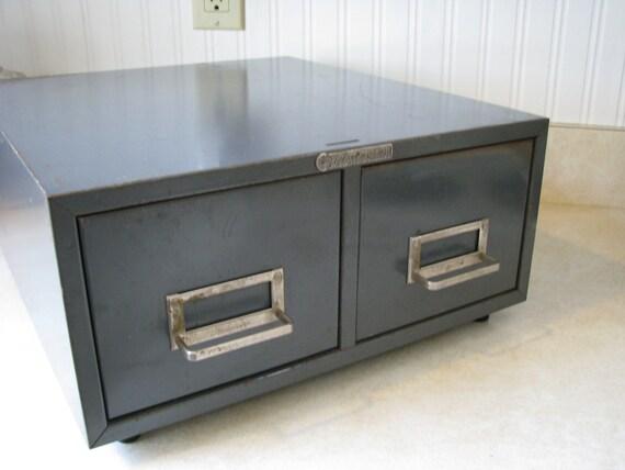 Vintage Steelmaster Two Drawer Index Card Filing Cabinet