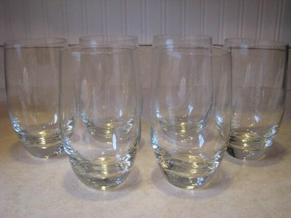 Vintage New Krosno Poland tumblers round drinking glasses set of 6