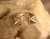 Sterling Silver Horus Double Pyramid Ring