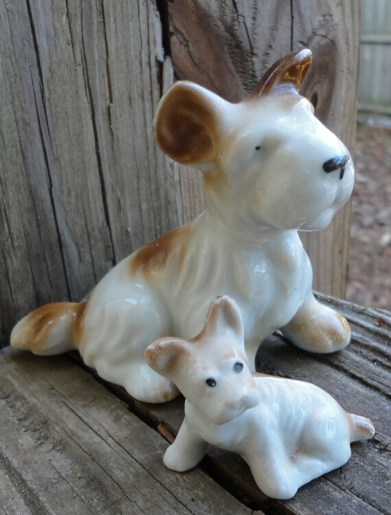 15% off use Coupon Code CHEERS Terrier Mom and Pup Porcelain figurines