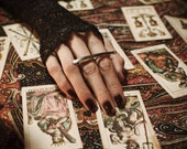 Sleep To Dream. Black Diamond Double Finger Ring