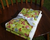 Fantastic Green Burp Cloths with Butterflies